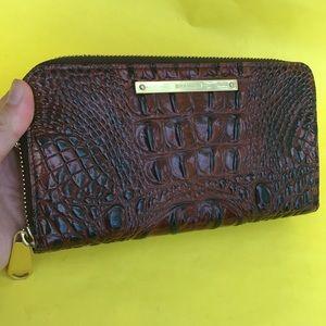Large burgundy Brahmin leather wallet